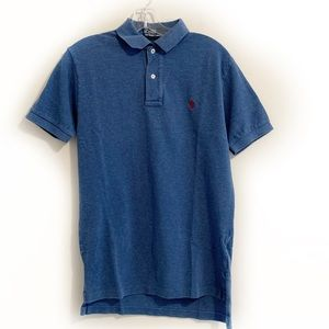 Polo by Ralph Lauren Logo  Denim Blue Polo Shirt
